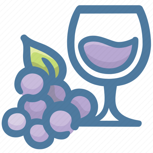 alcohol, beverage, drink, glass, grapes, wine icon