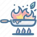 chef, chef cooking, cook, cooking, food, frying, pan icon