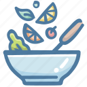 chef cooking, cook, cooking, food, salad, vegetable icon