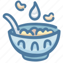 bowl, breakfast, cereal, food, milk icon