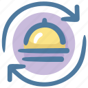 food, hotel service, service, waiter icon