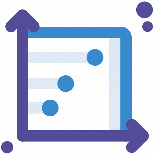 chart, graph, plots, presentation, scatter, slideshow icon