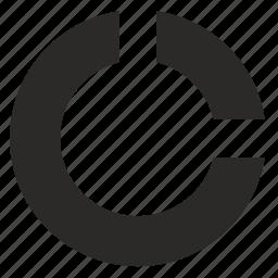 chart, circle, diagramm, economics, pie icon