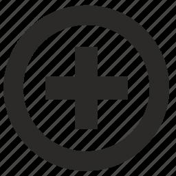add, circle, function, med, medicine icon