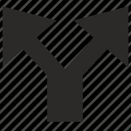 arrow, road, traffic, ways icon