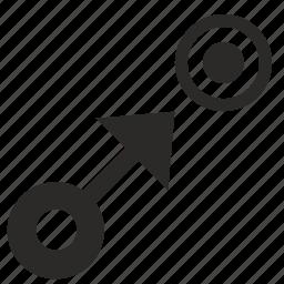 arrow, pointer, target, ui icon