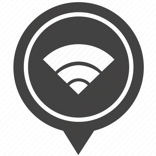 access, free, geo, internet, place, pointer, wifi icon