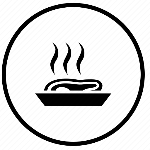 beaf, eat, food, fry, hot, meat, roast icon