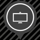 geo, monitor, plazma, pointer, screen, store, tv icon