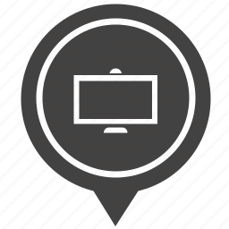 geo, monitor, plazma, pointer, screen, store, tv icon