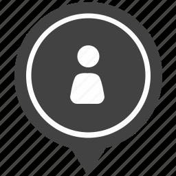geo, login, man, map, person, pointer, user icon