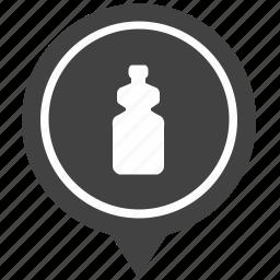 bottle, drink, geo, pointer, water icon