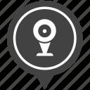 cam, camera, geo, monitoring, pointer, security, web icon