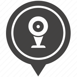 cam, camera, geo, monitoring, pointer, security, web icon