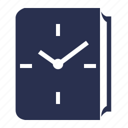 book, clock, library, reading, timer, wait icon