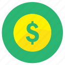 bank, coin, currency, dollar, golden, money, save, saving icon