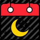 calendar, crescent, date, islam, muslim, ramadan, star