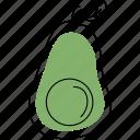 avocado, food, vegetable, organic, fruit, half