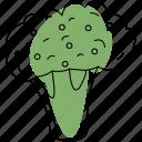 broccoli, cauliflower, vegetable, food, organic