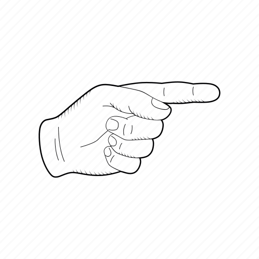 Direction Right Pointer Human Sketch Hand Icon Download On Iconfinder