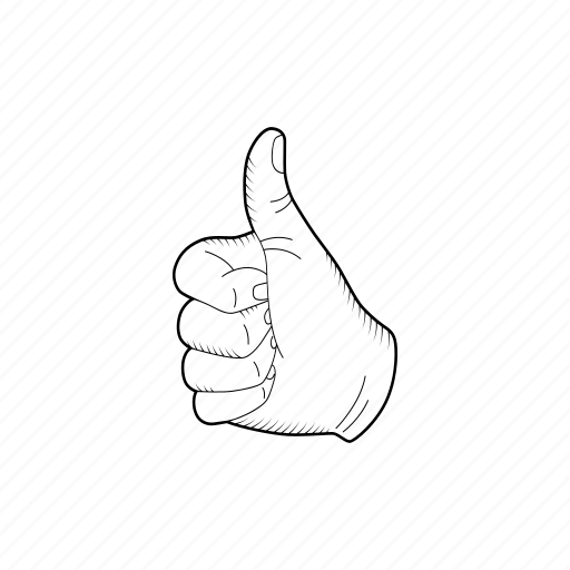 2 Cool Gesture Good Hand Like Sketch Icon Download On Iconfinder