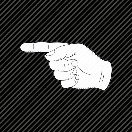 Pointer Gesture Left Human Sketch Direction Icon Download On Iconfinder
