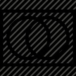 set theory, sets, venn diagram icon