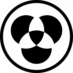 set theory, sets, symmetric difference, venn diagram icon
