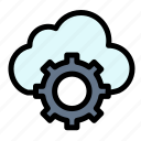 cloud, computing, settings icon