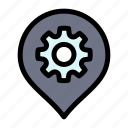 gear, location, map, setting icon