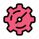 gear, setting, timer icon