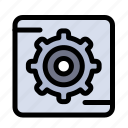 box, gear, setting icon