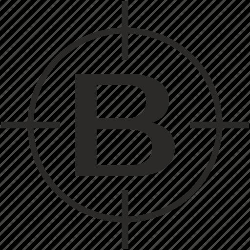 b, key, latin, letter, target icon