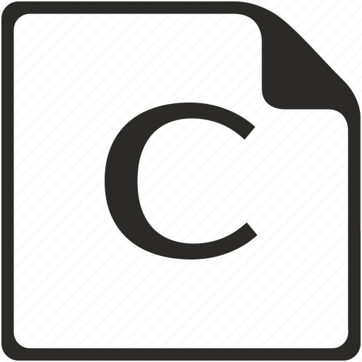 c, doc, file, key, latin, letter icon