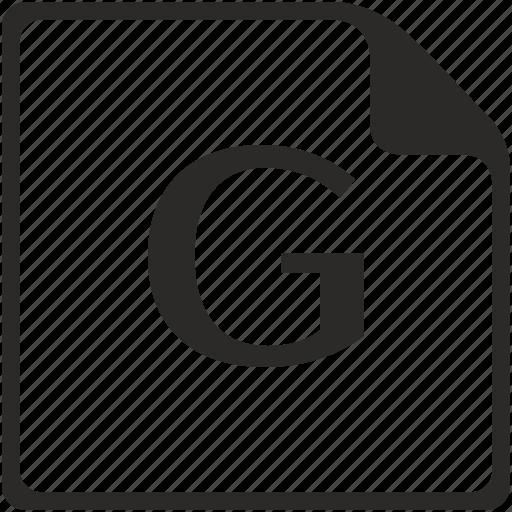 doc, file, g, key, latin, letter icon