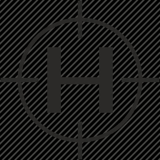 h, key, latin, letter, target icon