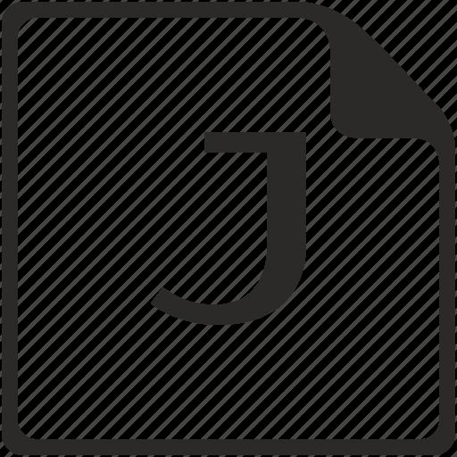 doc, file, j, key, latin, letter icon