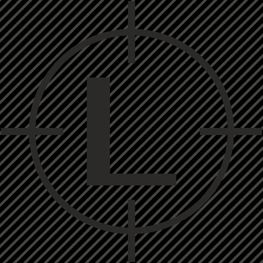 key, l, latin, letter, target icon