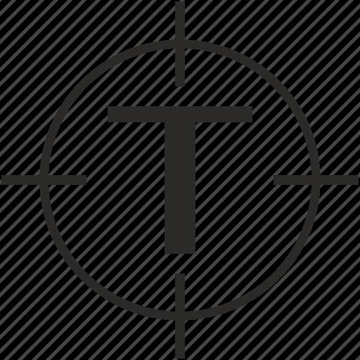 key, latin, letter, t, target icon
