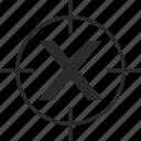 key, latin, letter, target, x icon