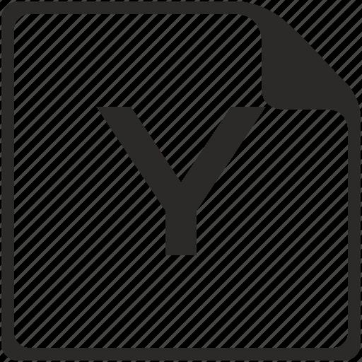 doc, file, key, latin, letter, y icon