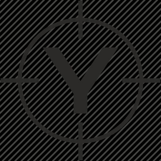 key, latin, letter, target, y icon