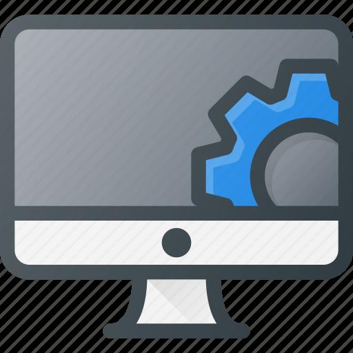 computer, desctop, set, settings, setup icon