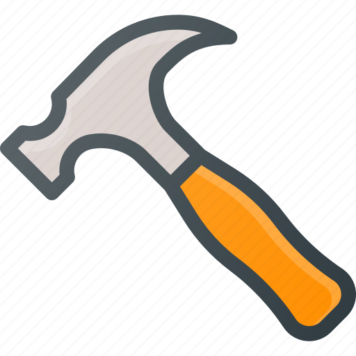 hammer, repair, set, settings, setup icon