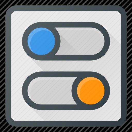 set, settings, setup, switch, toggle icon
