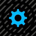 cogwheel, gear, reconfiguration, reconfiguring icon