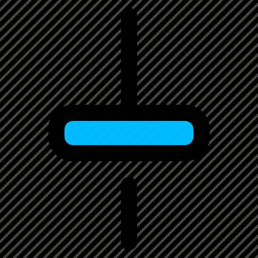 adjust, control, settings, slider, vertical icon