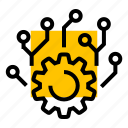 cog, gear, neural, settings, setup icon