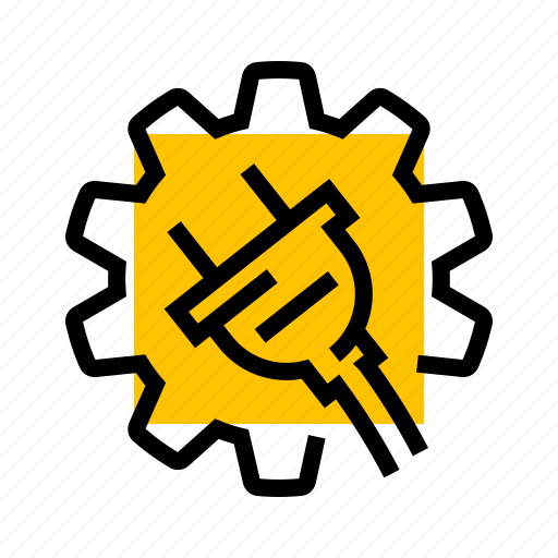 cog, gear, plug, power, settings, setup icon