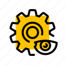 cog, gear, settings, setup, view, visibility icon